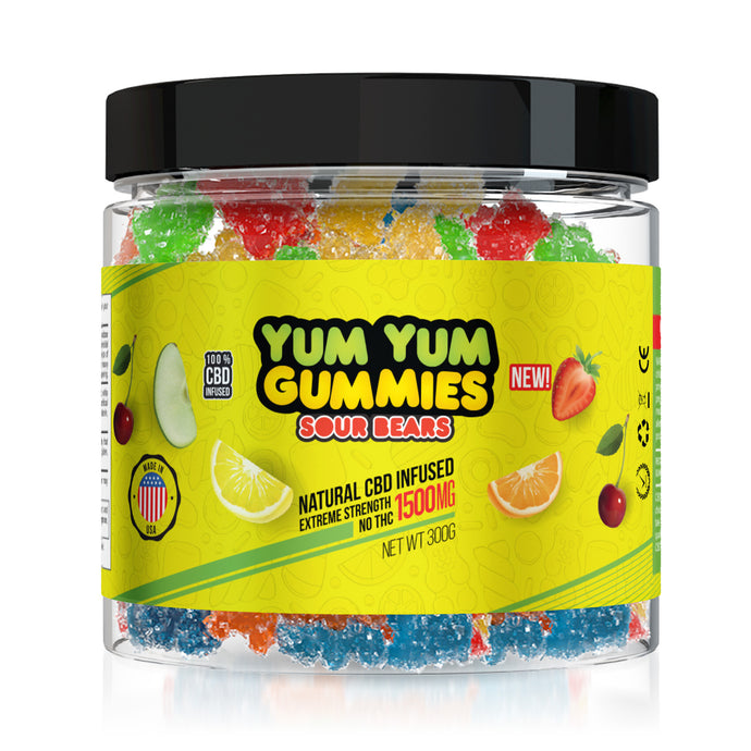 Yum Yum Gummies CBD Sour Bears - 1500mg