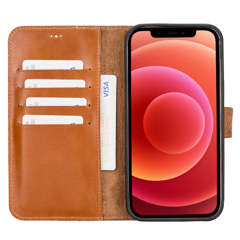 Magic Magnetic Detachable Leather Wallet Case for iPhone 12 Pro Max (6.7