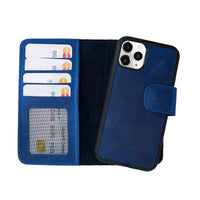 "Liluri Magnetic Detachable Leather Wallet Case for iPhone 11 Pro (5.8"") - BLUE - saracleather"