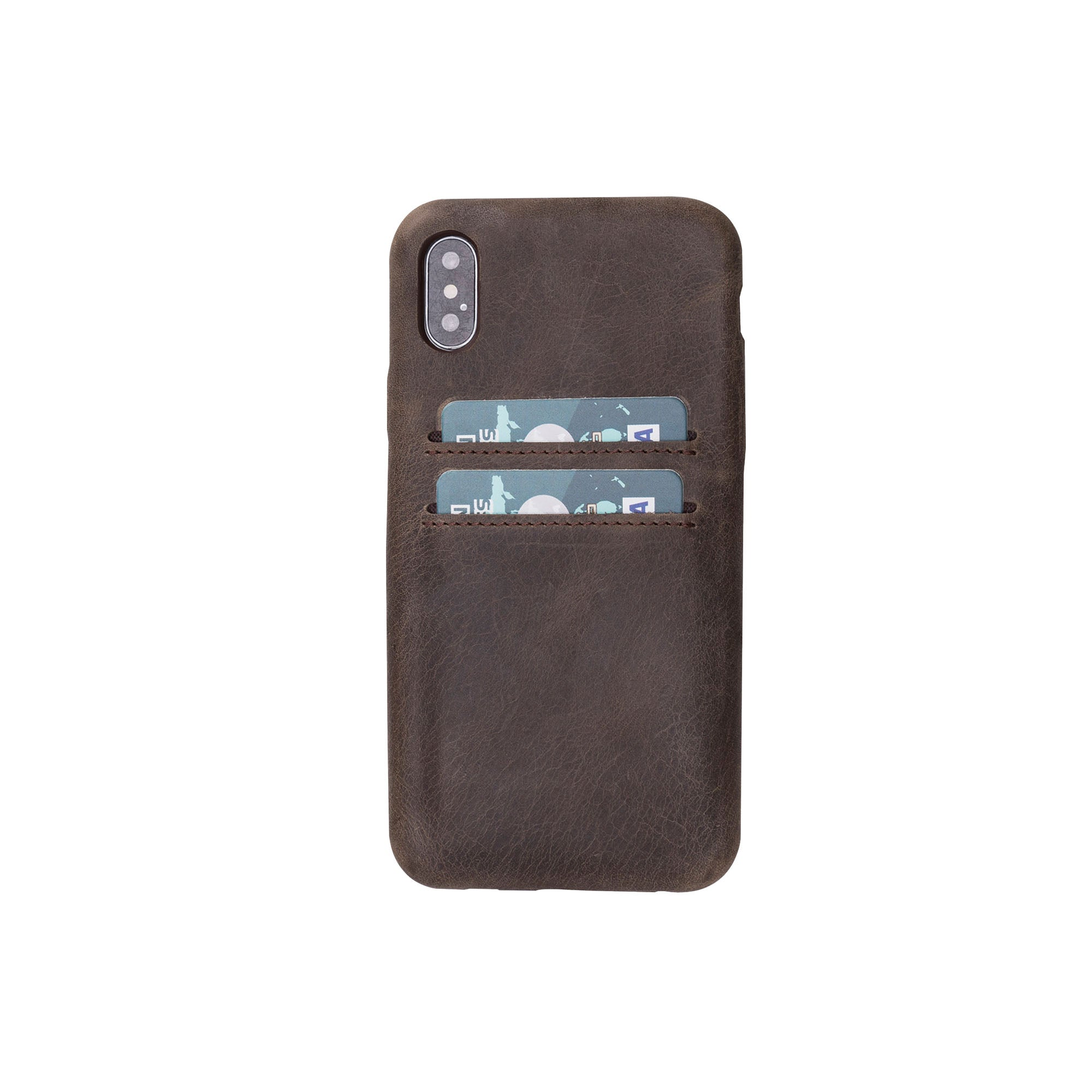 "Ultra Cover CC Leather Case for iPhone X / XS (5.8"") - BROWN"