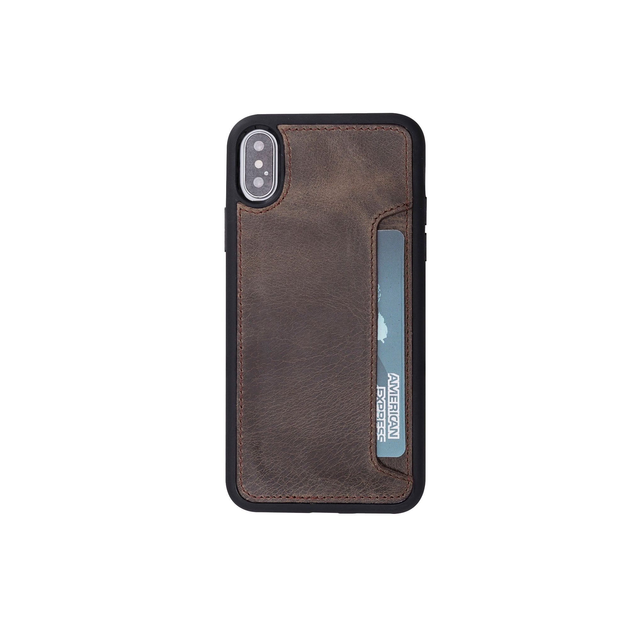 "Flex Cover CC Leather Case for iPhone X / XS (5.8"") - BROWN"