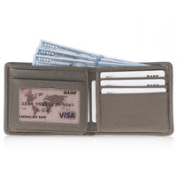 Carlos Leather Men's Bifold Wallet - SAND - saracleather