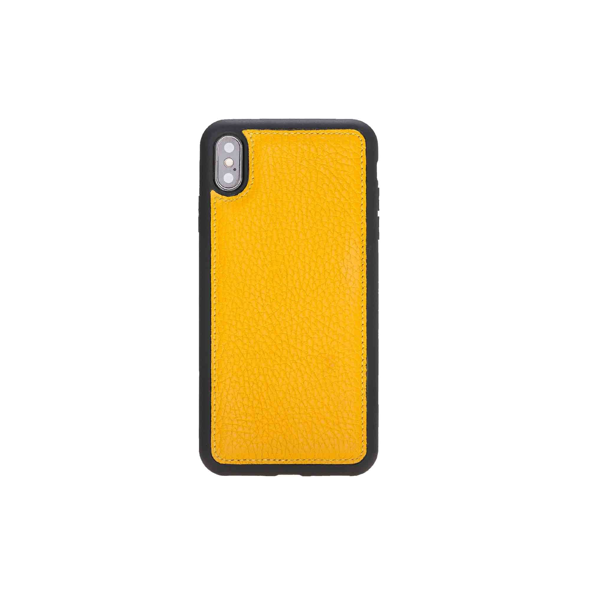 "Flex Cover Leather Case for iPhone XS Max (6.5"") - YELLOW - saracleather"