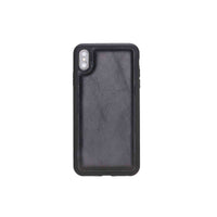 "Flex Cover Leather Case for iPhone XS Max (6.5"") - BLACK - saracleather"