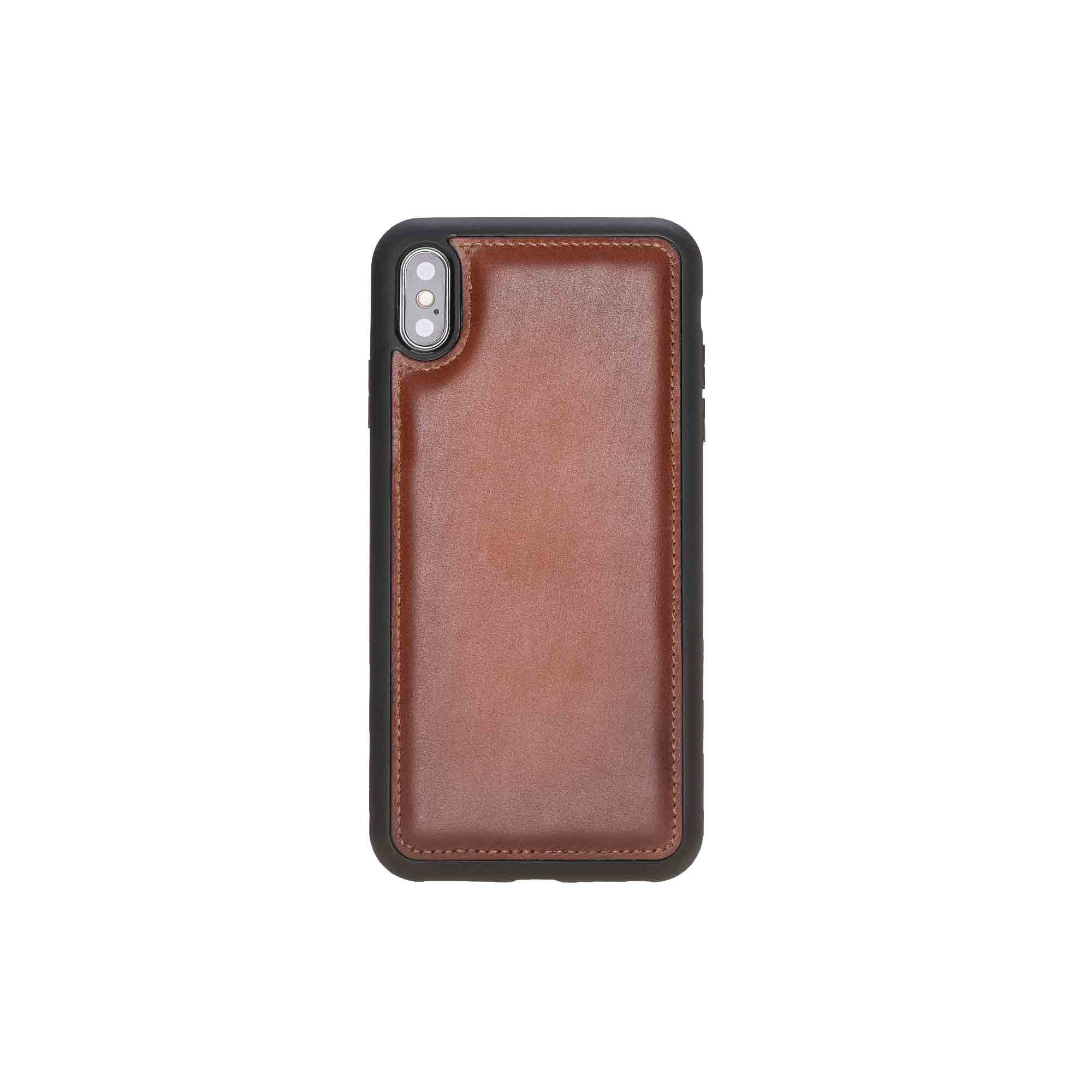 "Flex Cover Leather Case for iPhone XS Max (6.5"") - EFFECT BROWN - saracleather"