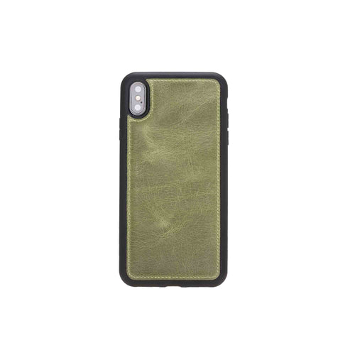 "Flex Cover Leather Case for iPhone XS Max (6.5"") - GREEN - saracleather"