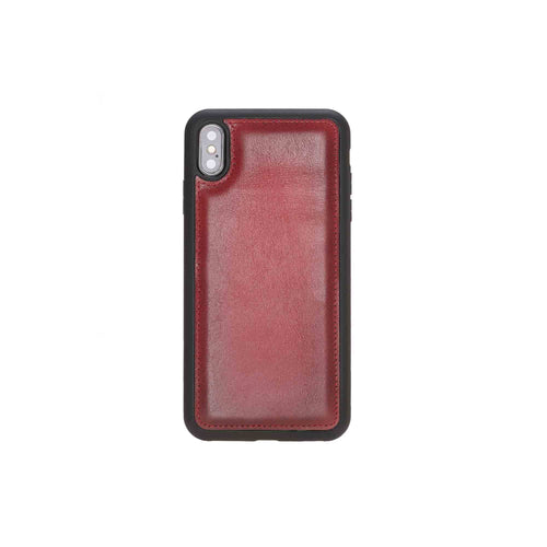 "Flex Cover Leather Case for iPhone XS Max (6.5"") - EFFECT RED - saracleather"