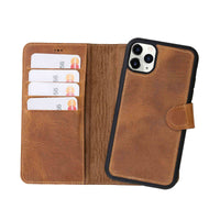 "Magic Magnetic Detachable Leather Wallet Case for iPhone 11 Pro Max (6.5"") - TAN - saracleather"