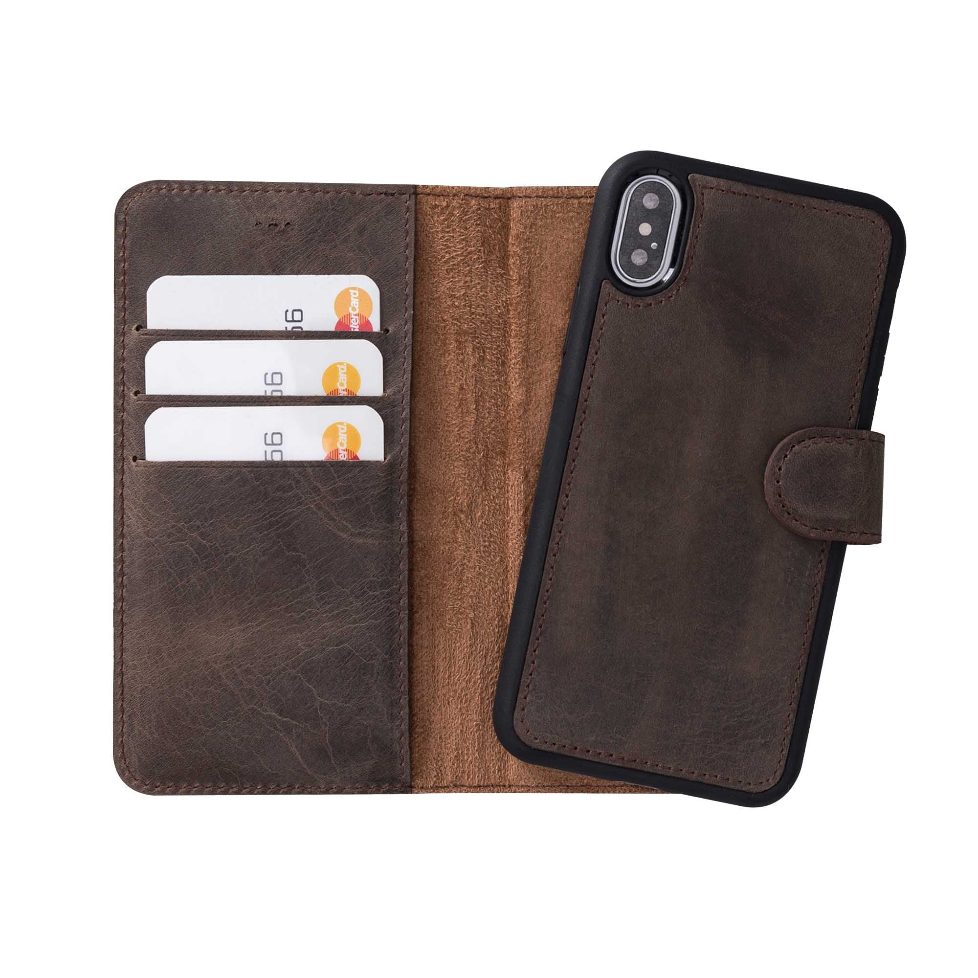 "Magic Magnetic Detachable Leather Wallet Case for iPhone X / XS (5.8"") - BROWN"