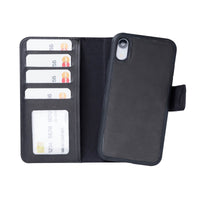 "Liluri Magnetic Detachable Leather Wallet Case for iPhone XR (6.1"") - BLACK - saracleather"
