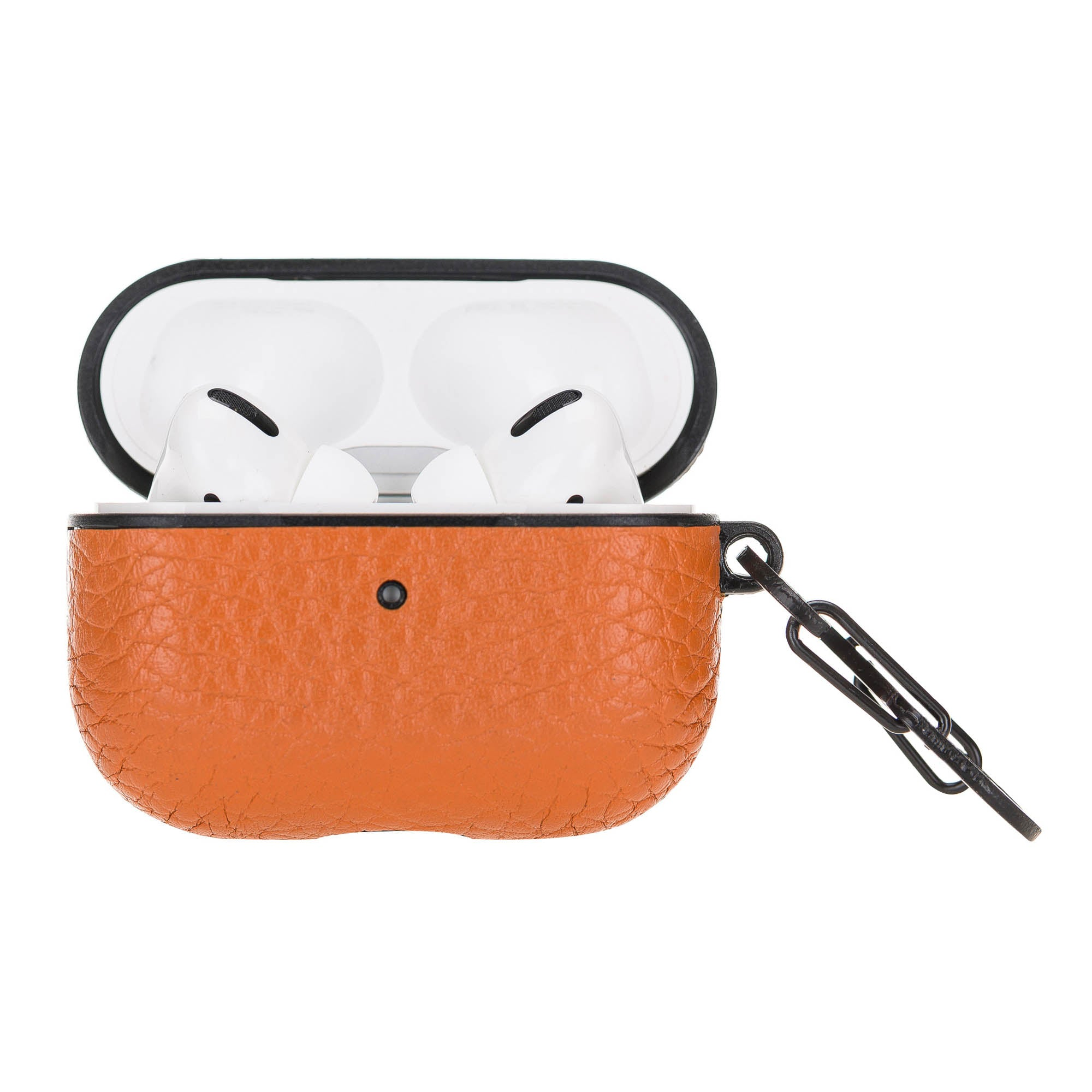 Juni Leather Capsule Case for AirPods Pro - ORANGE - saracleather