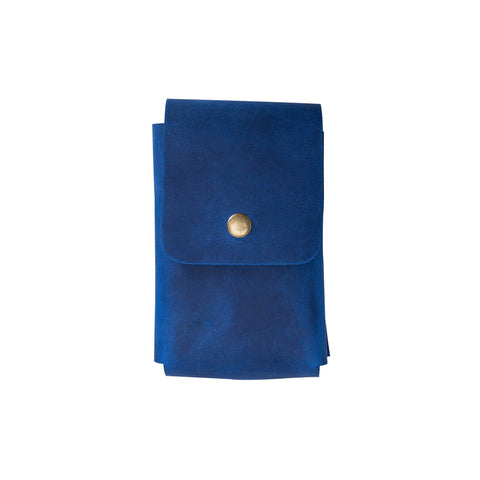 Troy Leather Case for Cigarette - BLUE - saracleather
