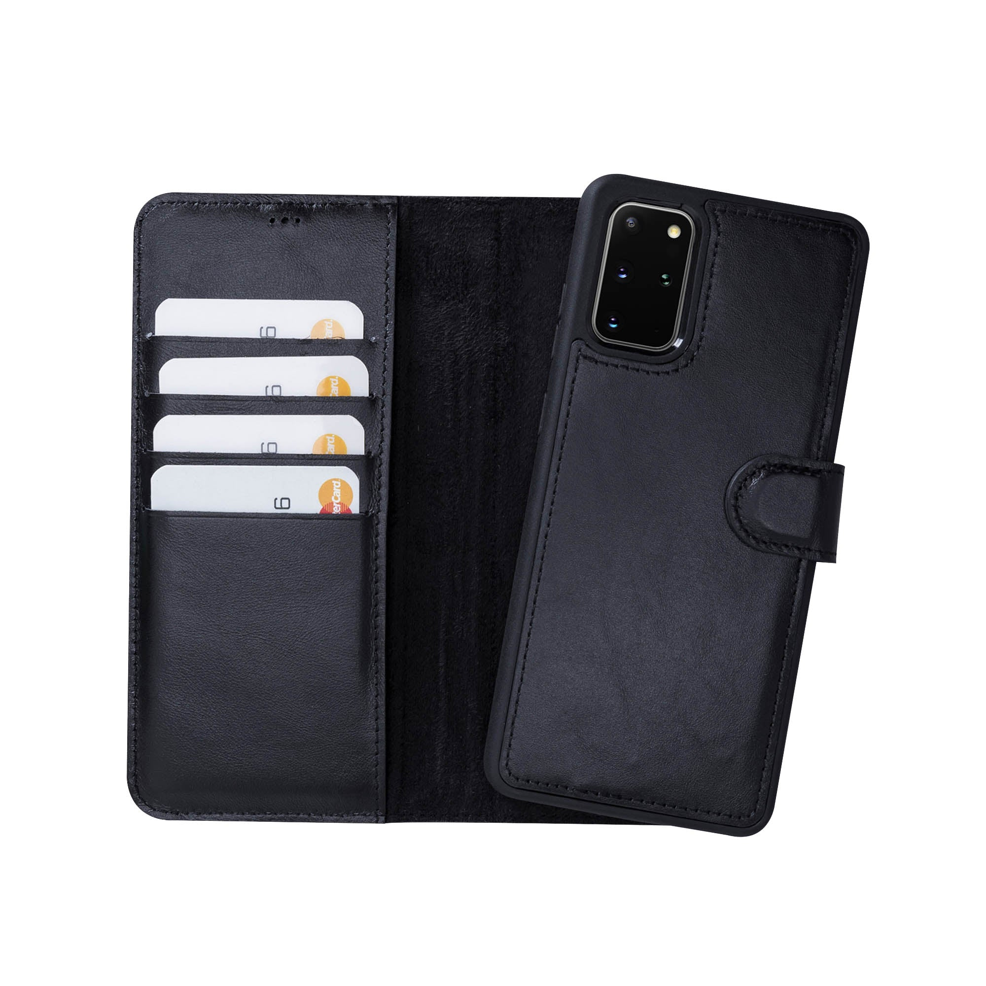 "Magic Magnetic Detachable Leather Wallet Case for Samsung Galaxy S20 Plus (6.7"") - BLACK"