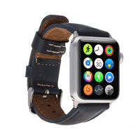 Full Grain Leather Band for Apple Watch 38mm / 40mm - NAVY BLUE - saracleather