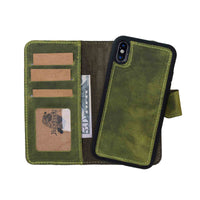 "Liluri Magnetic Detachable Leather Wallet Case for iPhone XS Max (6.5"") - GREEN - saracleather"