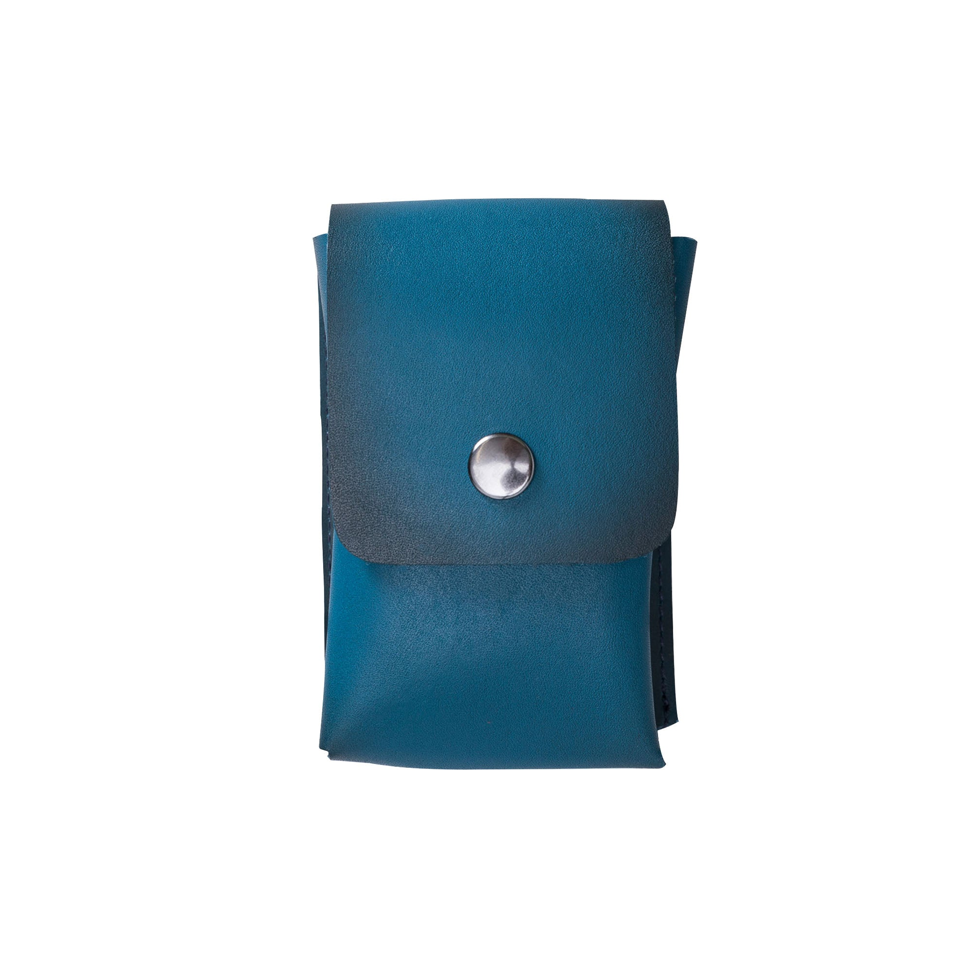 Troy Leather Case for Cigarette - EFFECT BLUE - saracleather