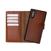 Magic Magnetic Detachable Leather Wallet Case for Samsung Galaxy Note 10 - EFFECT BROWN - saracleather