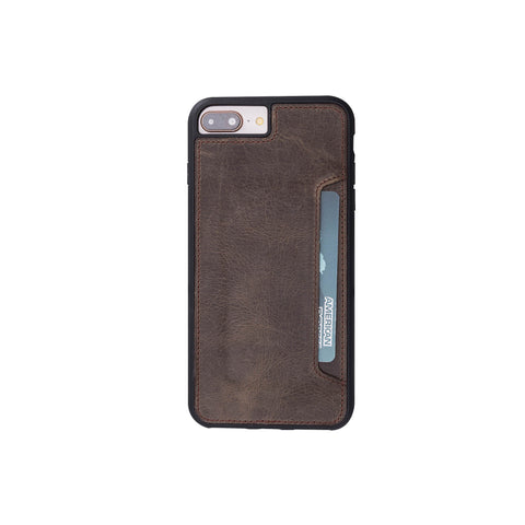 Flex Cover CC Leather Case for iPhone 8 Plus / 7 Plus - BROWN