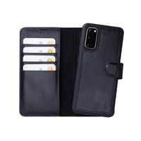 "Magic Magnetic Detachable Leather Wallet Case for Samsung Galaxy S20 (6.2"") - BLACK - saracleather"