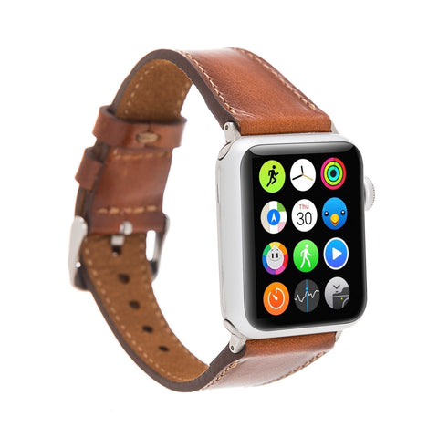 Full Grain Leather Band for Apple Watch 38mm / 40mm - EFFECT BROWN