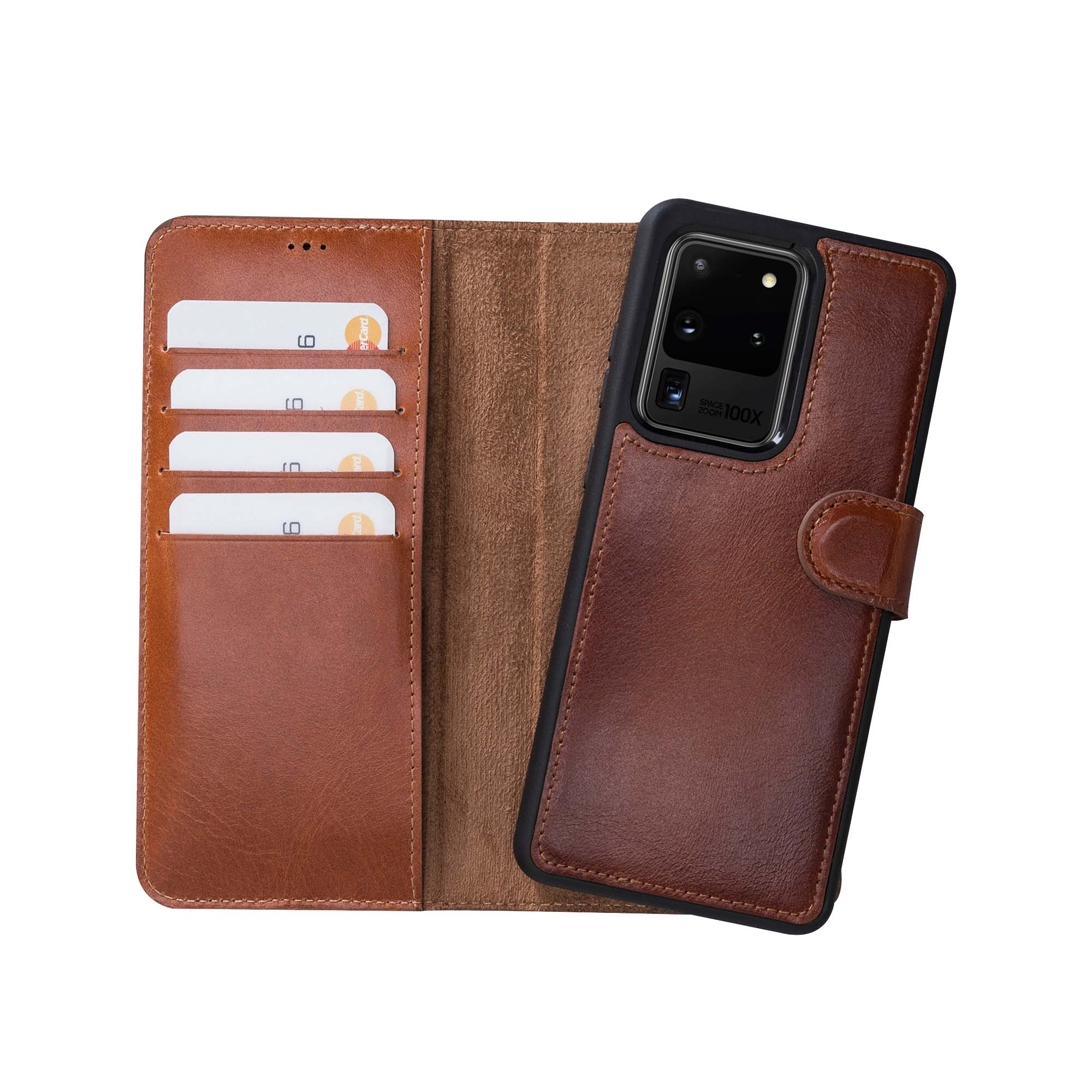 "Magic Magnetic Detachable Leather Wallet Case for Samsung Galaxy S20 Ultra (6.9"") - EFFECT BROWN"