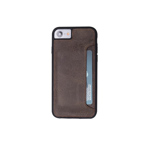 "Flex Cover CC Leather Case for iPhone SE 2020 / 8 / 7 (4.7"") - BROWN - saracleather"