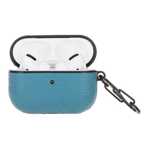 Juni Leather Capsule Case for AirPods Pro - TURQUOISE - saracleather