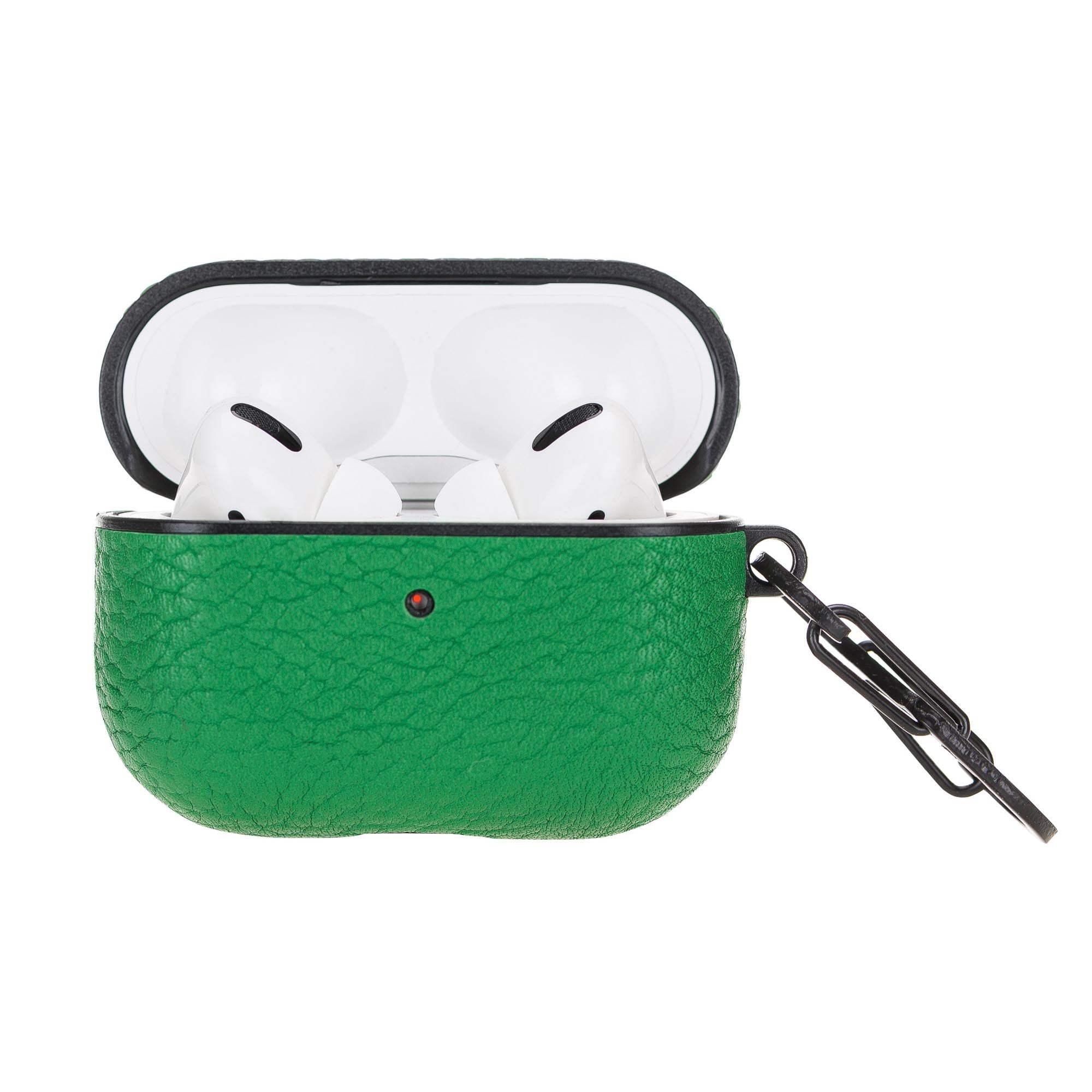 Juni Leather Capsule Case for AirPods Pro - GREEN - saracleather
