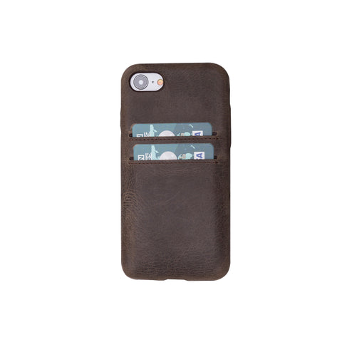 Ultra Cover CC Leather Case for iPhone 8 / 7 - BROWN