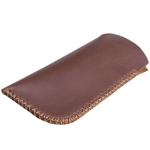 Leather Case For Glasses - BROWN - saracleather