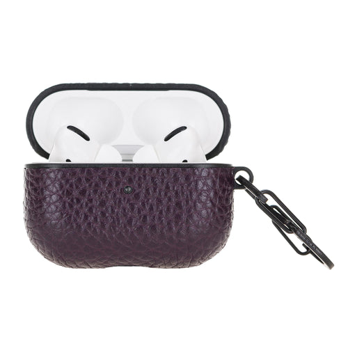 Juni Leather Capsule Case for AirPods Pro - PURPLE - saracleather