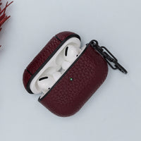 Juni Leather Capsule Case for AirPods Pro - DARK PURPLE - saracleather