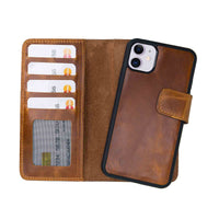 "Liluri Magnetic Detachable Leather Wallet Case for iPhone 11 (6.1"") - TAN - saracleather"