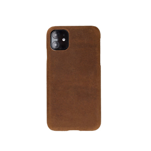 "Ultimate Jacket Leather Phone Case for iPhone 11 (6.1"") - BROWN - saracleather"