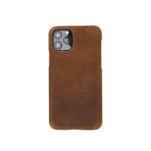 "Ultimate Jacket Leather Phone Case for iPhone 11 Pro (5.8"") - BROWN - saracleather"