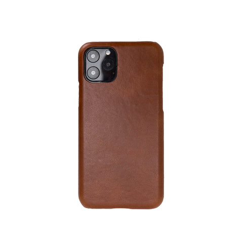 "Ultimate Jacket Leather Phone Case for iPhone 11 Pro Max (6.5"") - TAN"