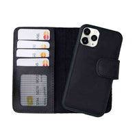 "Liluri Magnetic Detachable Leather Wallet Case for iPhone 11 Pro (5.8"") - BLACK - saracleather"