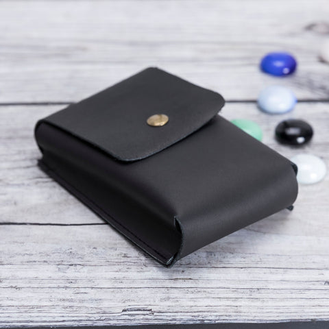 Troy Leather Case for Cigarette - BLACK - saracleather