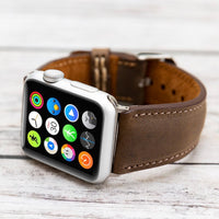 Full Grain Leather Band for Apple Watch 38mm / 40mm - BROWN - saracleather