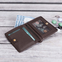 Fabio Leather Bifold Wallet - BROWN - saracleather