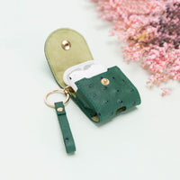Mai Leather Case for AirPods 1 & 2 - GREEN - saracleather