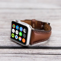 Slim Strap - Full Grain Leather Band for Apple Watch 38mm / 40mm - EFFECT BROWN - saracleather