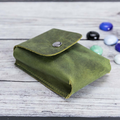 Troy Leather Case for Cigarette - GREEN - saracleather