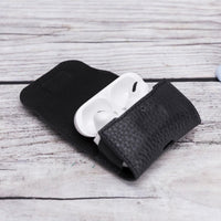 Mai Magnet Leather Case for AirPods Pro - BLACK - saracleather