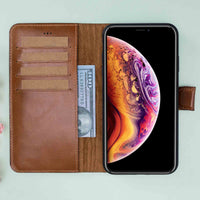 "Magic Magnetic Detachable Leather Wallet Case for iPhone XS Max (6.5"") - EFFECT BROWN - saracleather"