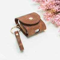 Mai Leather Case for AirPods 1 & 2 - BROWN - saracleather