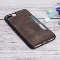 Flex Cover CC Leather Case for iPhone 8 Plus / 7 Plus - BROWN - saracleather