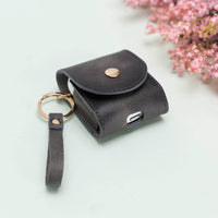 Mai Leather Case for AirPods 1 & 2 - GRAY - saracleather
