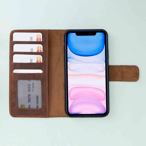 Liluri CC Magnetic Detachable Leather Wallet Case for iPhone 11 Pro Max (6.5