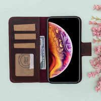"Liluri Magnetic Detachable Leather Wallet Case for iPhone XS Max (6.5"") - RED - saracleather"
